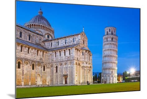 Pisa, Italy. Catherdral and the Leaning Tower of Pisa at Piazza Dei Miracoli.-Patryk Kosmider-Mounted Photographic Print