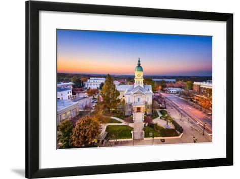 Athens, Georgia, USA Downtown at Sunset.-SeanPavonePhoto-Framed Art Print