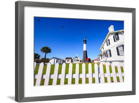 Tybee Island Light House of Tybee Island, Georgia, Usa.-SeanPavonePhoto-Framed Art Print