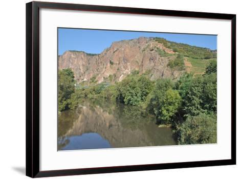Rotenfels Rock,Nahe River,Germany-travelpeter-Framed Art Print