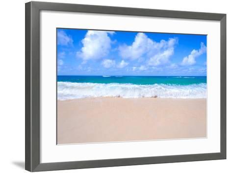 Sandy Beach Background-EllenSmile-Framed Art Print