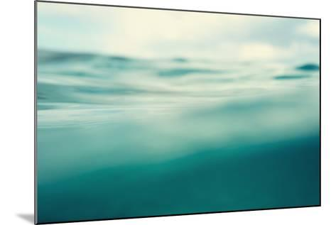 Water. Sea. Ocean, Wave close Up. Nature Background. Soft Focus. Image Toned and Noise Added.-khorzhevska-Mounted Photographic Print