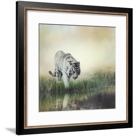 White Tiger near A Pond-abracadabra99-Framed Art Print