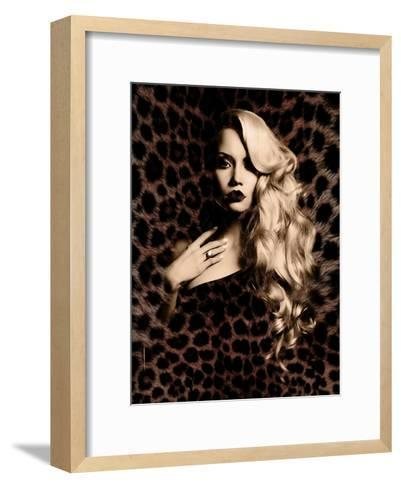 Luxury. Elegant. Jaguar.--Framed Art Print