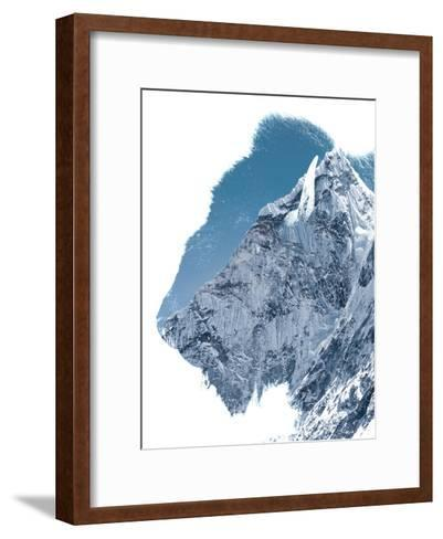 Majestic Mountain of a Creature, the American Bison--Framed Art Print