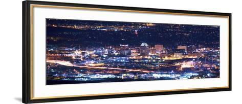 Colorado Springs at Night-duallogic-Framed Art Print