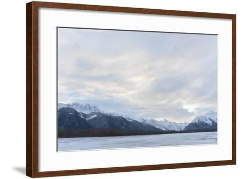 Snowcovered Mountains in Alaska.-SURZ-Framed Art Print