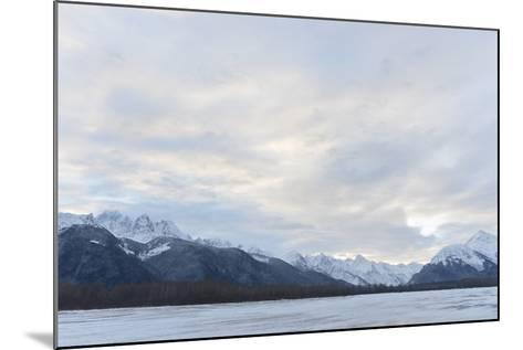 Snowcovered Mountains in Alaska.-SURZ-Mounted Photographic Print