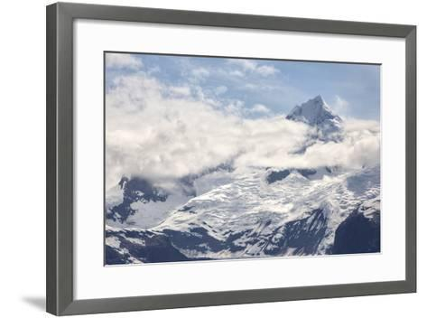 Snow Capped Mountain in the Glacier Bay National Park, Alaska-BostoX-Framed Art Print