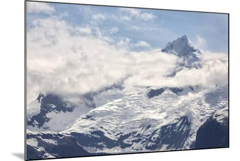 Snow Capped Mountain in the Glacier Bay National Park, Alaska-BostoX-Mounted Photographic Print