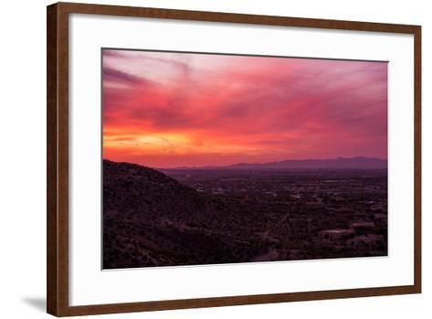 Arizona Sunset Scenery-duallogic-Framed Art Print