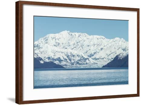 Hubbard Glacier in Yakutat Bay, Alaska.-jirivondrous-Framed Art Print