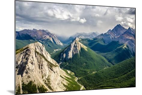 Mountain Range Landscape View in Jasper Np, Canada-MartinM303-Mounted Photographic Print