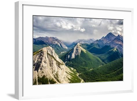 Mountain Range Landscape View in Jasper Np, Canada-MartinM303-Framed Art Print
