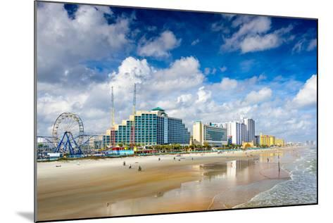 Daytona Beach, Florida, USA Beachfront Skyline.-SeanPavonePhoto-Mounted Photographic Print