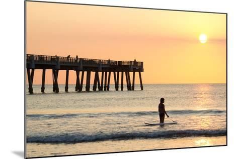 Early Morning at the Pier in Jacksonville Beach, Florida.-RobWilson-Mounted Photographic Print
