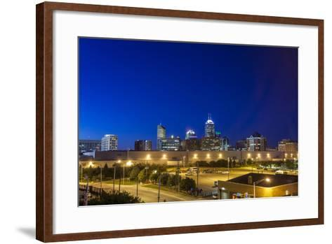 Indianapolis Downtown, Indiana, Usa-Sopotniccy-Framed Art Print