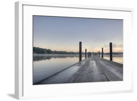 HDR of Sunrise on Lake Okoboji-dosecreative-Framed Art Print
