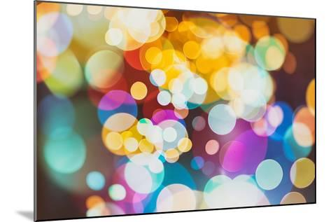Abstract Texture, Light Bokeh Background-Maximusnd-Mounted Photographic Print