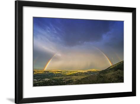 Rainbow over Denver-duallogic-Framed Art Print