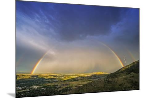Rainbow over Denver-duallogic-Mounted Photographic Print