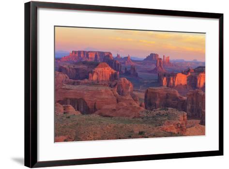 Sunrise at Hunts Mesa Viewpoint-aiisha-Framed Art Print