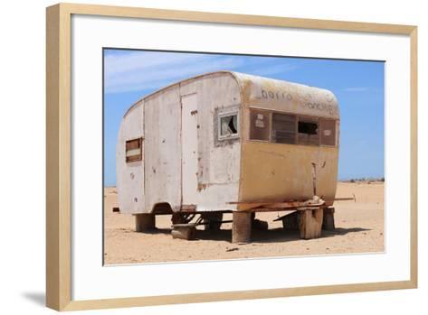 Abandoned Trailer in the Desert-Charles Harker-Framed Art Print