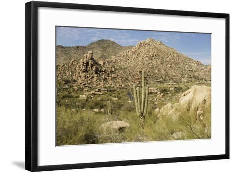 Arizona, Desert Valley Landscape near Phoenix,Scottsdale,Usa-BCFC-Framed Art Print