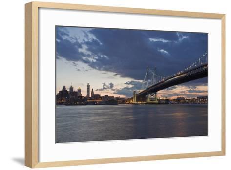 Philadelphia at Night-Steven Vona Photography-Framed Art Print