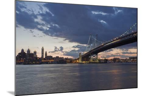 Philadelphia at Night-Steven Vona Photography-Mounted Photographic Print