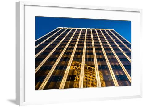 Evening Light on the Pnc Bank Building in Downtown Wilmington, Delaware.-Jon Bilous-Framed Art Print