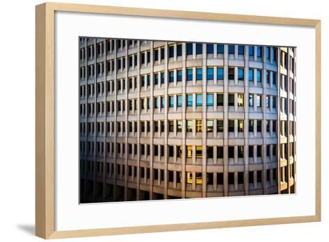 Architectural Details of the Brandywine Building Taken in Downtown Wilmington, Delaware.-Jon Bilous-Framed Art Print