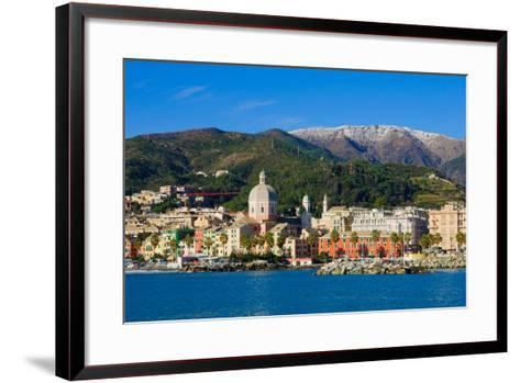 Genoa from the Sea-RnDmS-Framed Art Print