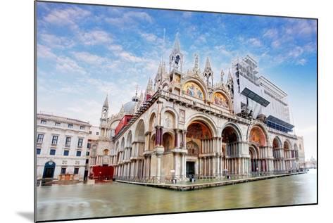Basilica Di San Marco under Interesting Clouds, Venice, Italy-TTstudio-Mounted Photographic Print