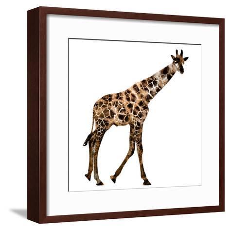 The Jaguar Patterned, Beautifully Confused Giraffe--Framed Art Print