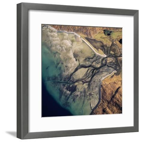 Aerial Image of Scotland, UK: Barrisdale Bay-Adrian Warren-Framed Art Print