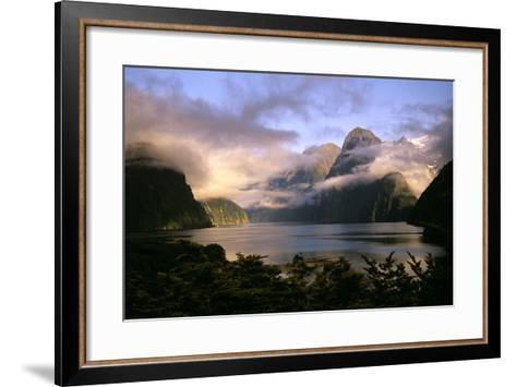 New Zealand Milford Sound During a Storm--Framed Art Print