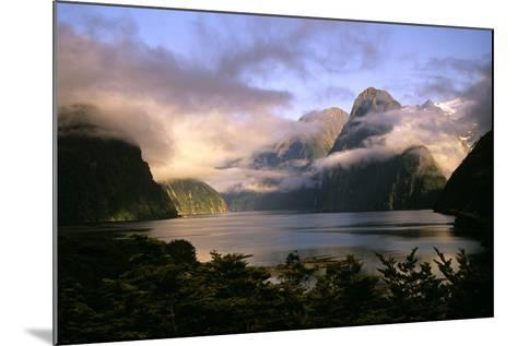 New Zealand Milford Sound During a Storm--Mounted Photographic Print