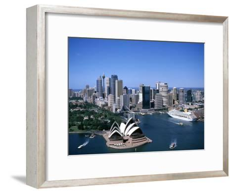 Australia Aerial of Sydney Opera House and Cruise--Framed Art Print