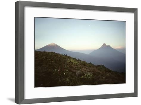 Rwanda Virunga Volcanoes, Karisimbi and Mikeno-Adrian Warren-Framed Art Print
