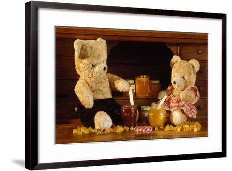 Teddy Bear with Honey and Jam--Framed Art Print