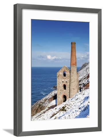 Wheal Coates Engine House in Winter Snow--Framed Art Print