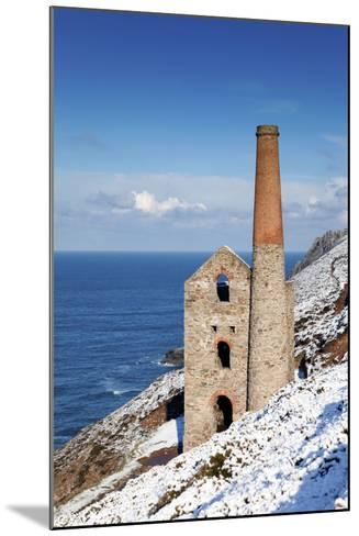 Wheal Coates Engine House in Winter Snow--Mounted Photographic Print
