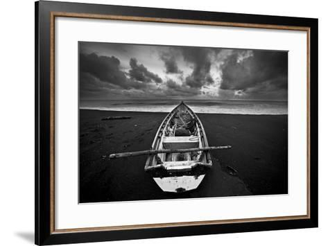 Boat, Monterico Beach--Framed Art Print