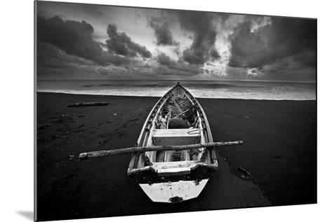 Boat, Monterico Beach--Mounted Photographic Print
