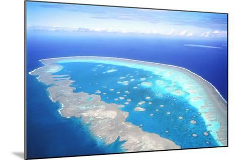Great Barrier Reef Aerial View--Mounted Photographic Print