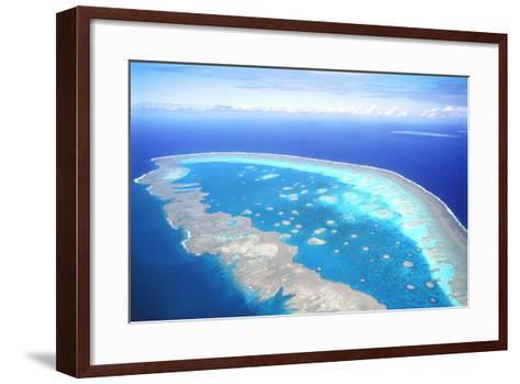 Great Barrier Reef Aerial View--Framed Art Print