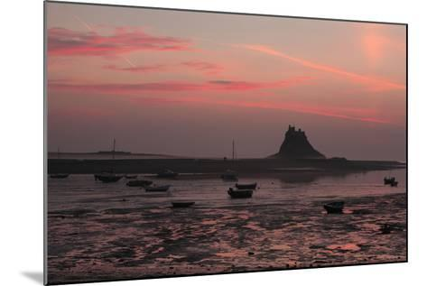 Lindisfarne Castle at Dawn over Harbour--Mounted Photographic Print
