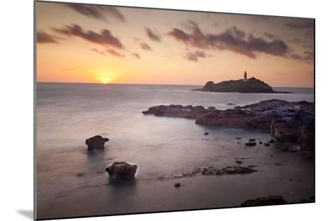 Godrevy Lighthouse Sunset--Mounted Photographic Print