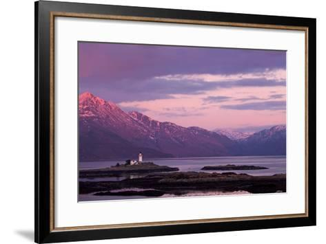 Evening Glow over the Lighthouse on the Isle of Ornsay--Framed Art Print